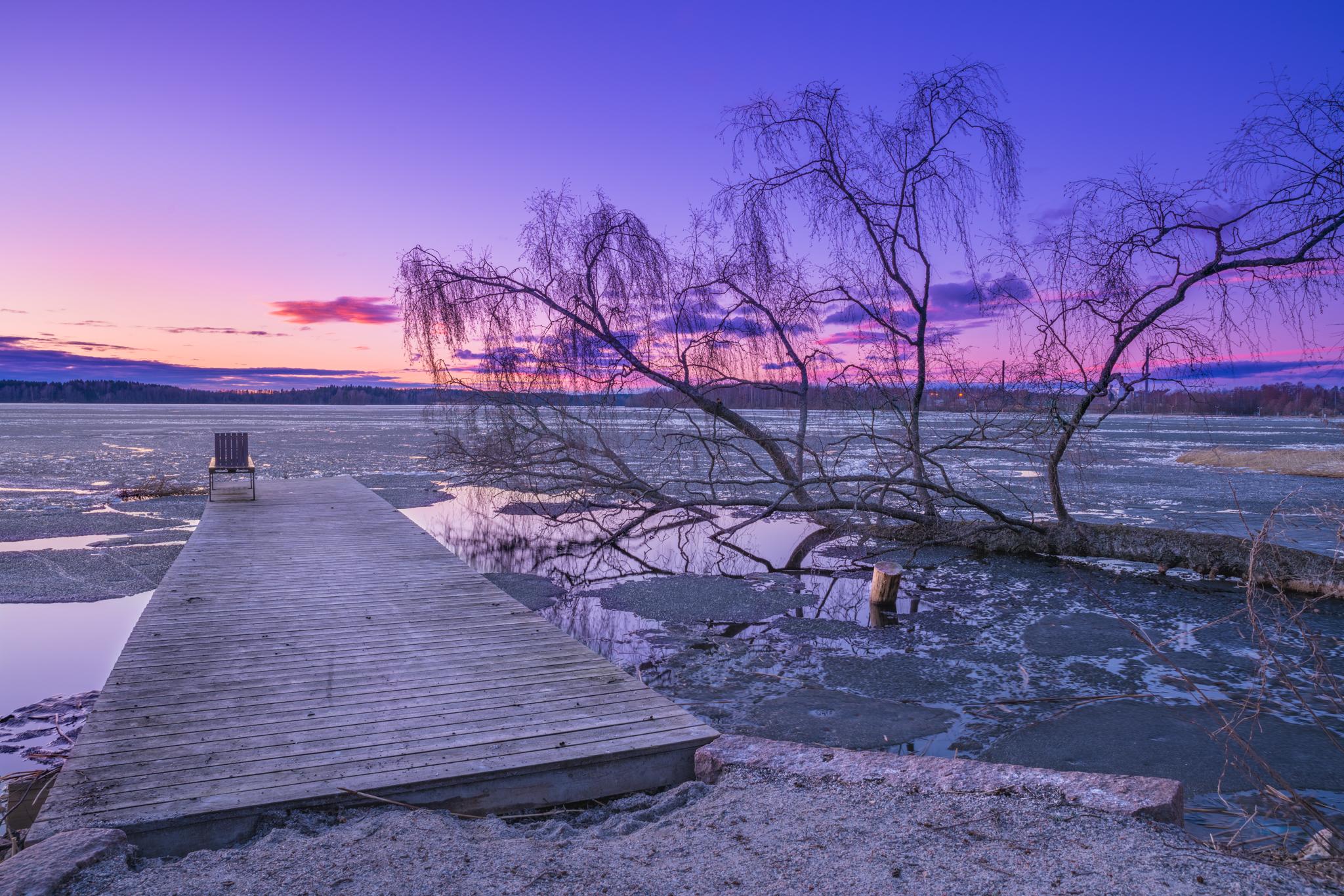 Jäiden lähtö Porlassa 21.4.2018 © Jani Salmela
